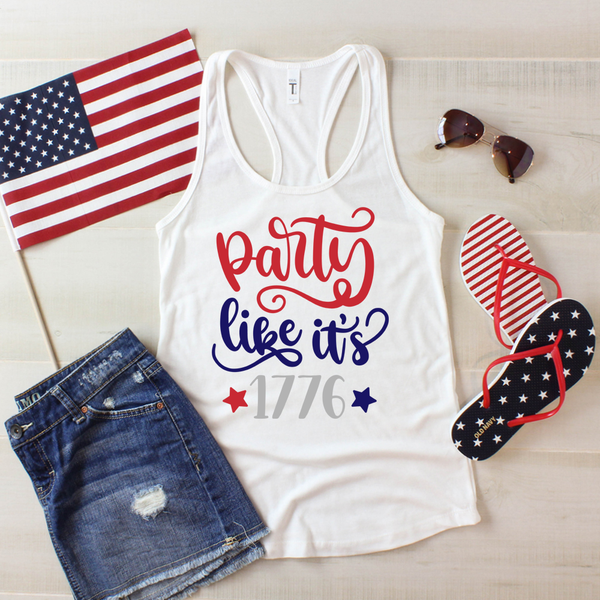 Party Like its 1776 Women's Ideal Racerback Tank