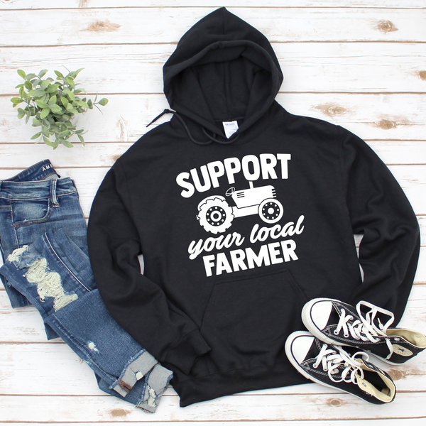 Support Your Local Farmer Unisex Heavy Blend Hooded Sweatshirt