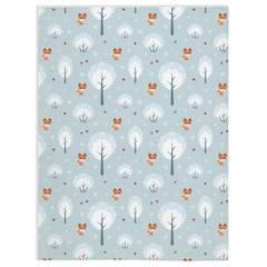 Light Blue Fox Minky Blanket