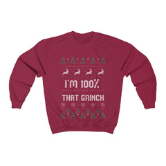 100% that Grinch Ugly Christmas Sweater