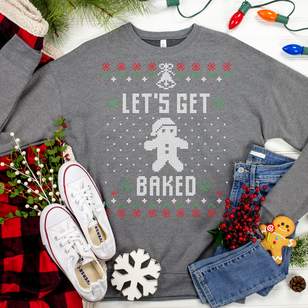Lets Get Baked Ugly Christmas Sweater