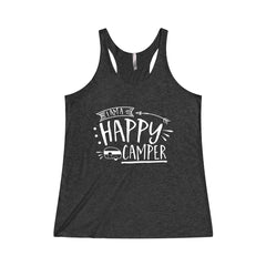 I am a Happy Camper Tri-Blend Racerback Tank