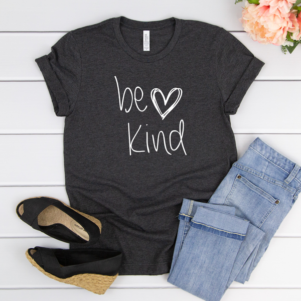 Be Kind Heart Unisex Jersey Short Sleeve Tee