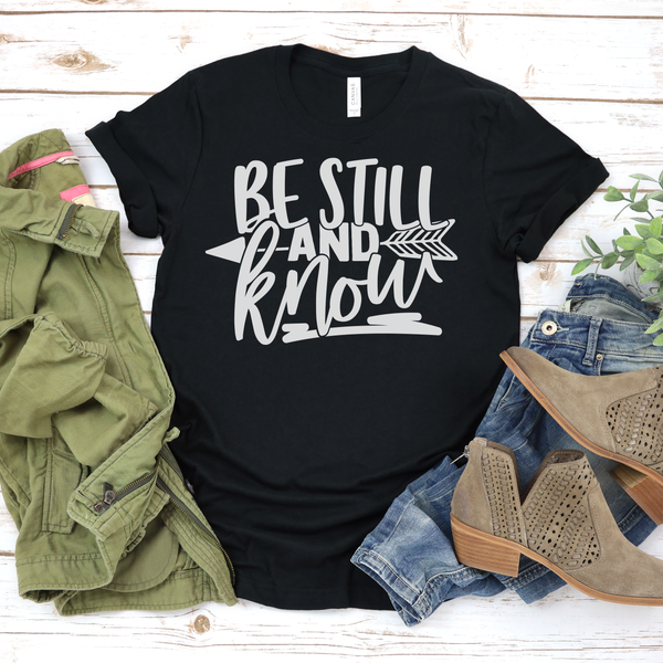 Be Still and Know Unisex Jersey Short Sleeve Tee