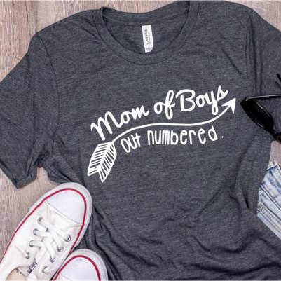 Mom of Boys Outnumbered Unisex Tee