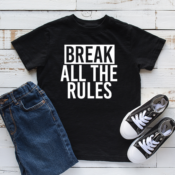 Break All The Rules Kids Tshirt
