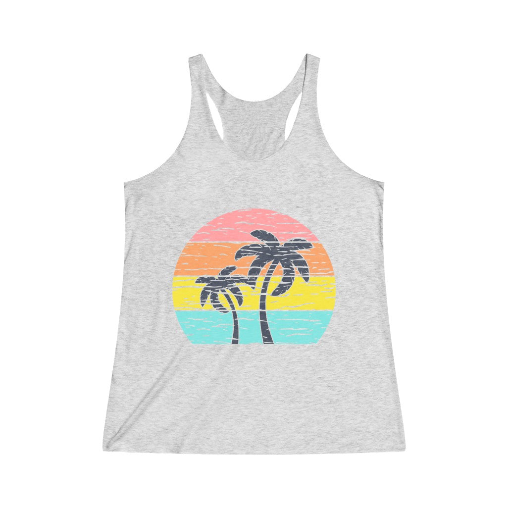 Palm Trees Women's Tri-Blend Racerback Tank