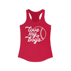 Love my Boys Women's Ideal Racerback Tank