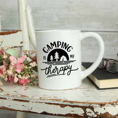 Camping is my Therapy Mug 11oz
