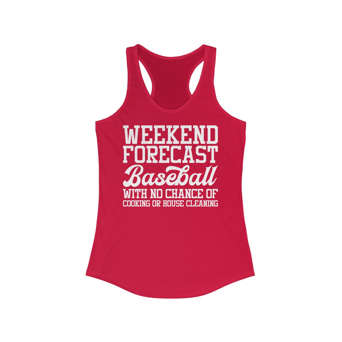 Baseball Weekend Forecast Women's Ideal Racerback Tank