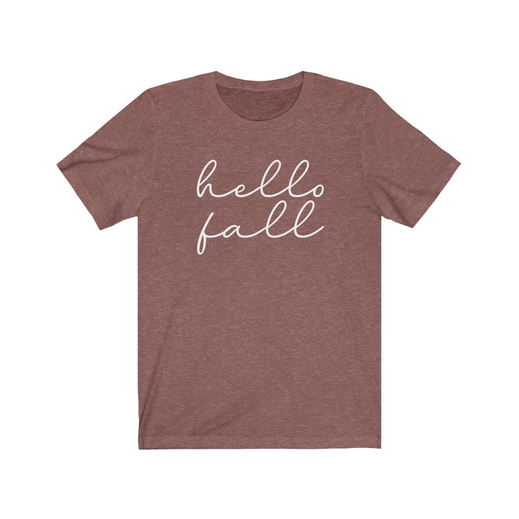 Hello Fall Unisex Jersey Short Sleeve Tee