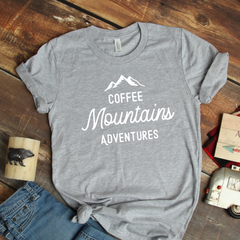 Coffee Mountains Adventure Unisex Jersey Short Sleeve Tee