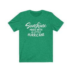 Copy of Sunshine Mixed With a Little Hurricane Unisex Jersey Short Sleeve Tee