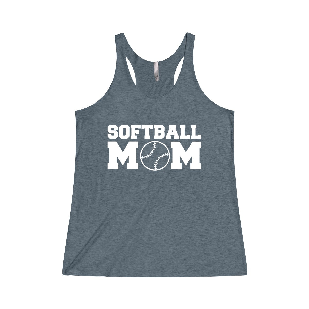 Softball Mom Women's Tri-Blend Racerback Tank