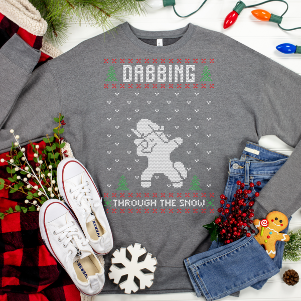 Dabbing Unicorn Ugly Christmas Sweater