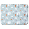 Winter Foxes baby Sherpa Blanket