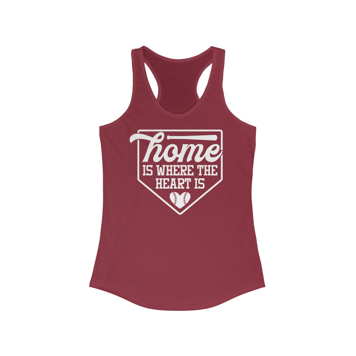 Home is where the Heart Is Women's Ideal Racerback Tank