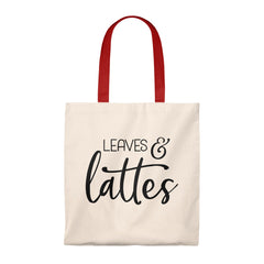 Leaves and Lattes Tote Bag - Vintage