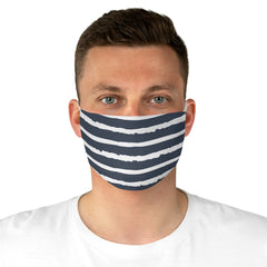 Watercolor Black Stripes Fabric Face Mask
