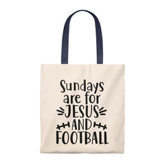 Sundays are for Jesus and Football Tote Bag - Vintage