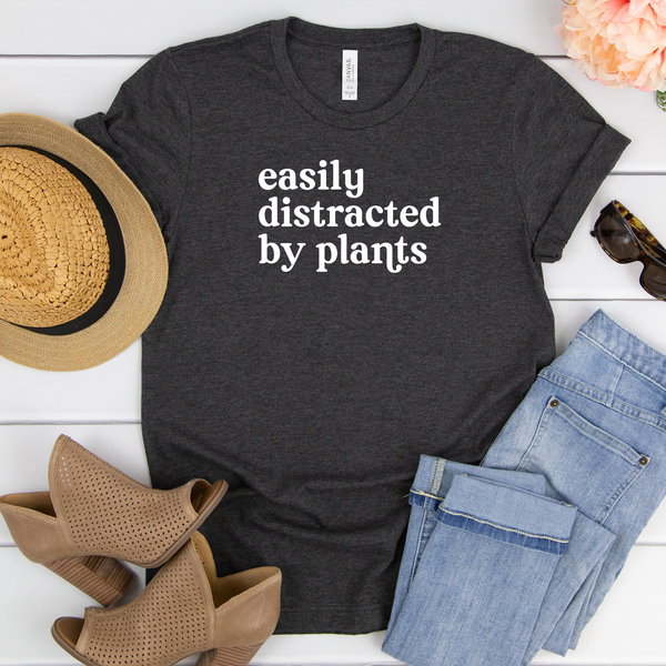 Easily Distracted by Plants Unisex Jersey Short Sleeve Tee