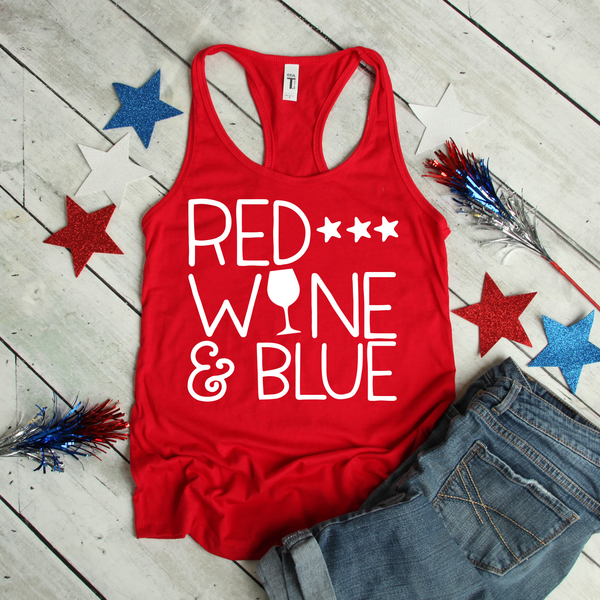 Red, Wine & Blue Women's Tri-Blend Racerback Tank