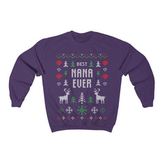 Best Nana Ever Ugly Christmas Sweater