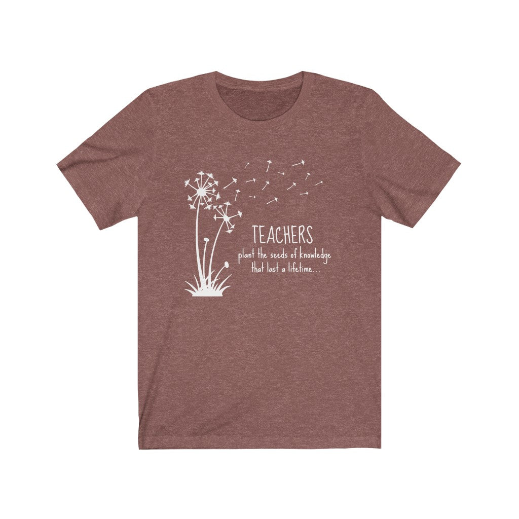 Teachers Plant the Seed of Knowledge Unisex Jersey Short Sleeve Tee