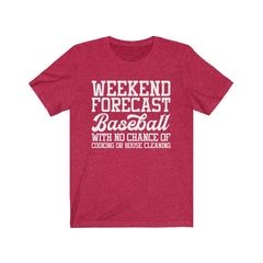 Baseball Weekend Forecast Jersey Short Sleeve Tee