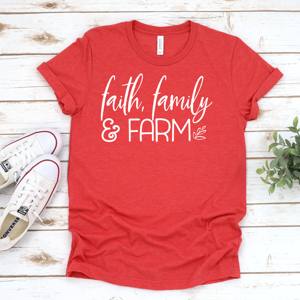 Faith, Family & Farm Unisex Jersey Short Sleeve Tee