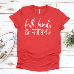 Faith, Family & Farm Unisex Jersey Short Sleeve V-Neck Tee