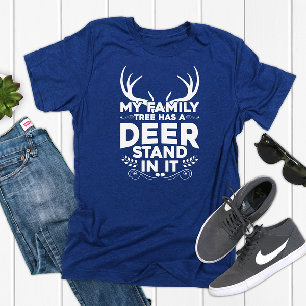 My Family Tree has a Deer Stand in it Unisex Jersey Short Sleeve Tee