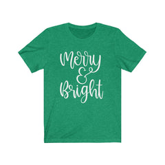 Merry & Bright Unisex Jersey Short Sleeve Tee