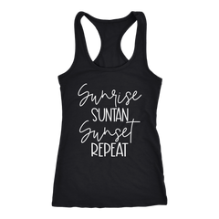 Sunrise Suntan Sunset Repeat Tank