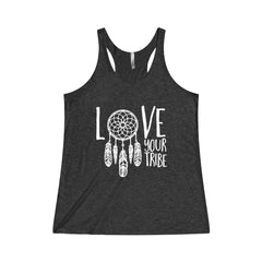 Love Your Tribe Tri-Blend Racerback Tank
