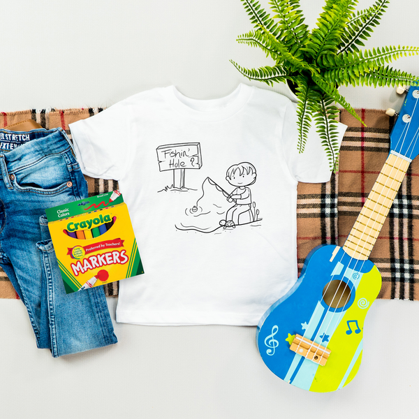 Fishing Kids Coloring Shirt