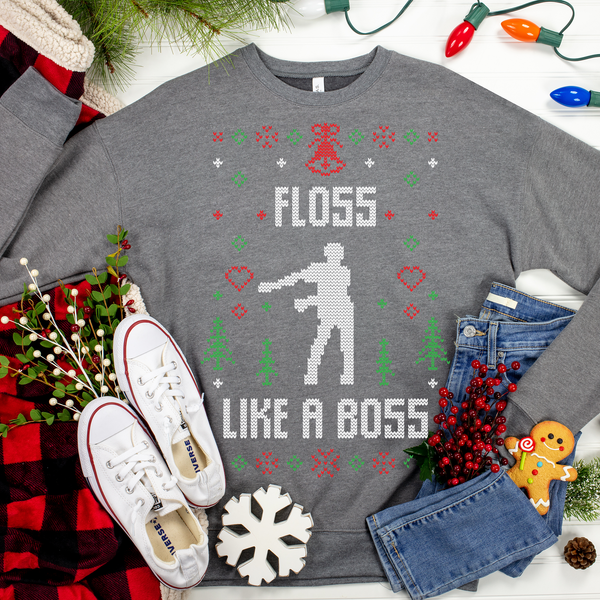 Floss Like A Boss Christmas Ugly Christmas Sweater