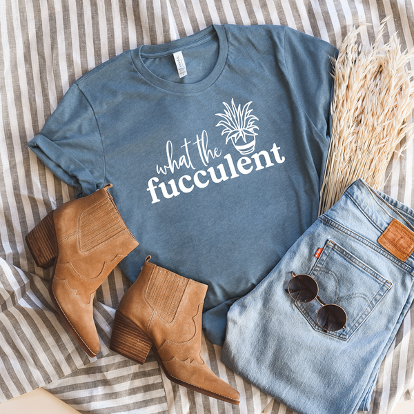 What the Fucculent Unisex Jersey Short Sleeve Tee