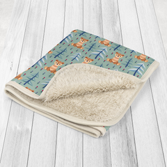 Winter Bear Baby Sherpa Blanket