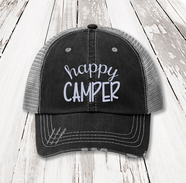 Happy Camper Unisex Trucker Hat