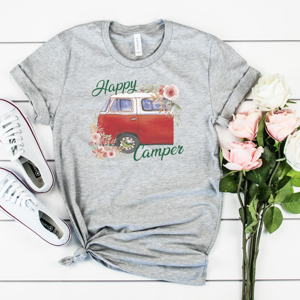 Happy Camper Unisex Jersey Short Sleeve Tee