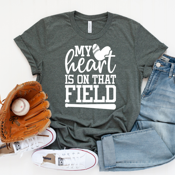 My Heart Is On That Field Unisex Jersey Short Sleeve Tee