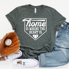 Home is where the Heart is Unisex Jersey Short Sleeve Tee