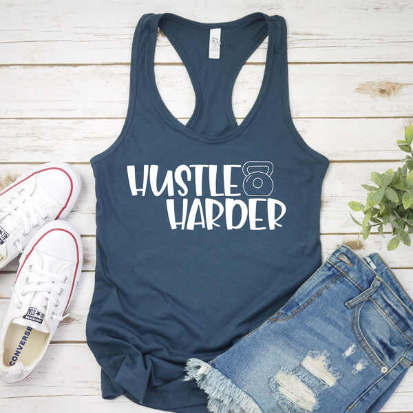 Hustle Harder Workout Tank