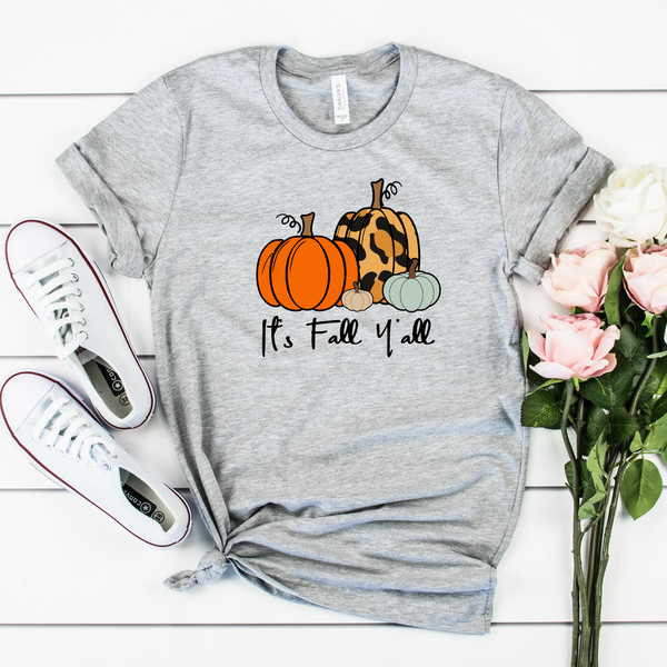 It's Fall Y'all Unisex Jersey Short Sleeve Tee