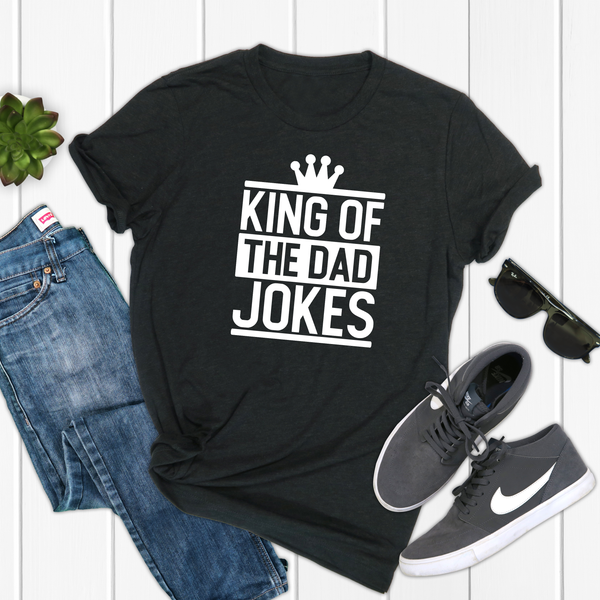 King of the Dad Jokes Unisex Jersey Short Sleeve Tee