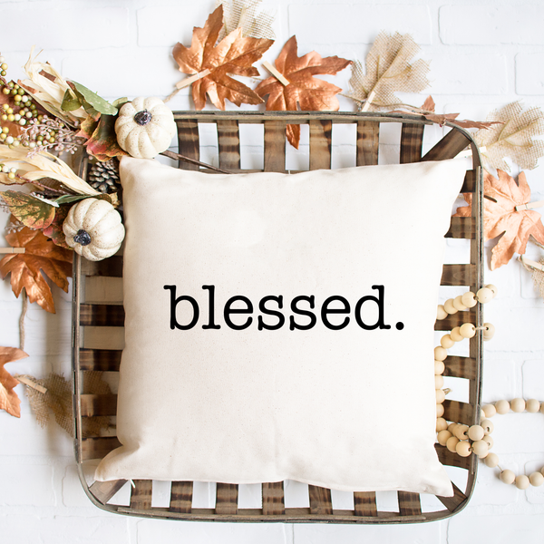 Blessed Spun Polyester Square Pillow Case