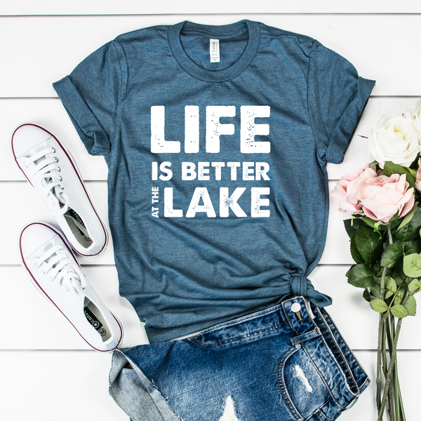 Life is Better at the Lake Unisex Jersey Short Sleeve Tee
