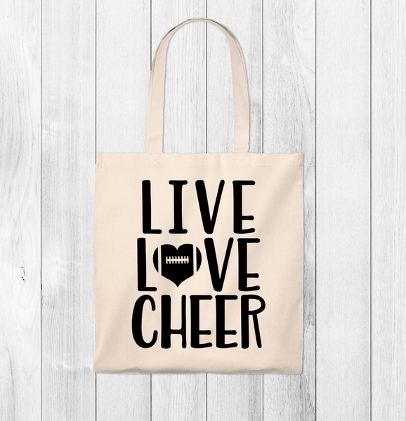 Live Love Cheer Tote Bag - Vintage
