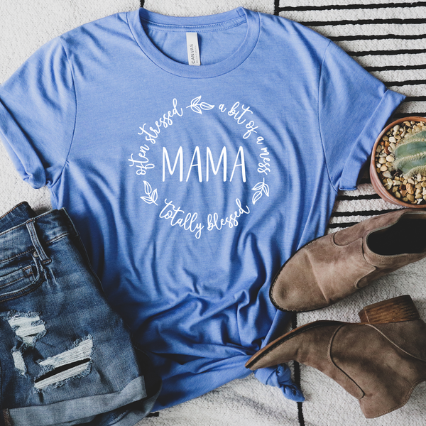 MAMA Totally Blessed Unisex Jersey Short Sleeve Tee